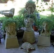 head with plants head planters pinterest plants head