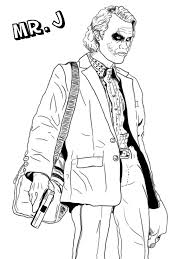 Joker Coloring Pages Coloring Pages Pinterest Joker Coloring Pages Joker