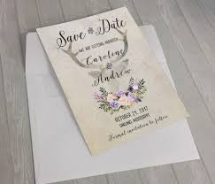 rustic save the date card printable wedding date card boho