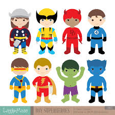 36 kids superhero costumes clipart superheroes kids clipart