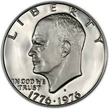 1776 to 1976 quarter dollar 1976 eisenhower dollar values and prices past sales coinvalues