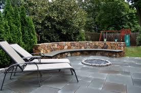 outdoor patio stone home decor ideas