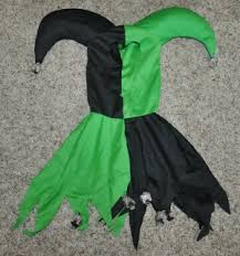 Halloween Costumes Jester Nwt Boys Green Black Skull Skeleton Evil Jester 5 Pc Halloween