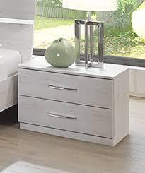 le de chevet chambre chevet 2 tiroirs chambre à coucher chene blanc
