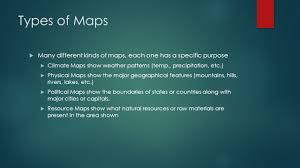 Different Types Of Maps Introduction To Geography Mr Pentzak Individuals U0026 Societies