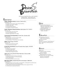 Public Relations Resume Examples by Resume Public Affairs Resume