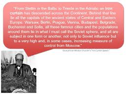 Iron Curtain Speech The Cold War Ppt Video Online Download