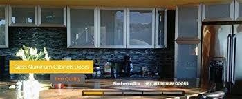 kitchen cabinets aluminum glass door custom made glass aluminum cabinet doors for