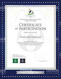Participation Certificate Templates Free Download Sport Theme Certificate Of Participation Template For Football
