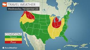 thanksgiving forecast storms could cause delays on busy travel