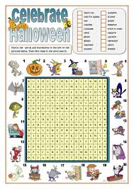 celebrate halloween word search worksheet free esl printable