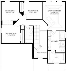 bedroom four bedroom one story house plans