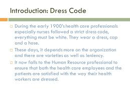 human resources policy dress code ppt download