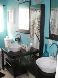 Black And Yellow Bathroom Ideas Bathroom Black Wooden Vanity With White Sink Plus Mirror With