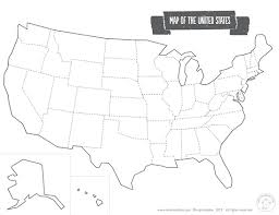 map of us states empty printable map of the usa mr printables geography united