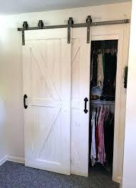 Sliding Barn Door For Closet Best 25 Barn Door Closet Ideas On Pinterest Bathroom Barn Door