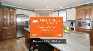 free 500 gift card oak creek homes