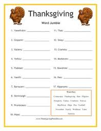 printable thanksgiving word search family fall