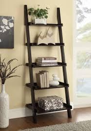 Brown Ladder Shelf Furniture Traditional Living Room Leaning Ladder Shelf Black
