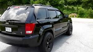jeep cherokee black with black rims 2008 wk jeep grand cherokee black mamba mr 1 265 75 17 youtube