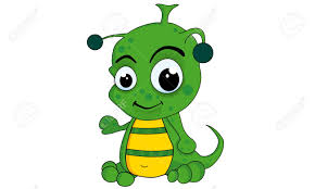 green alien cartoon and vector isolated royalty free cliparts