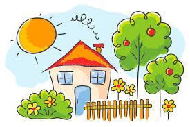 casa disegno disegno s bambino di una casa illustrazione vettoriale
