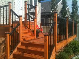 Solar Light Caps For Deck Posts by Combined Aluminium Railings With Cedar Posts The Posts Have