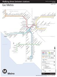 Metro Redline Map New Map Shows Walk Time Between L A Metro Stations U2013 Streetsblog