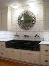 cool white subway tile kitchen images design inspiration andrea