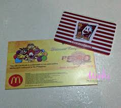 mcdonalds gift card discount michi photostory mcdonald s kiddie crew club card