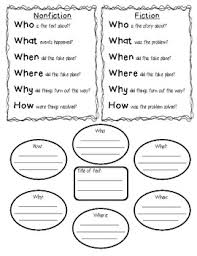 freebie summary graphic organizers and poster fiction and