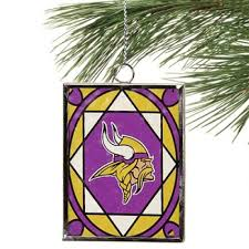 minnesota vikings stained glass ornament sun catcher