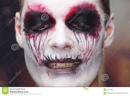 scary halloween makeup for men man makeup halloween stock photo image 61977099