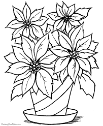 christmas flower printable coloring pages