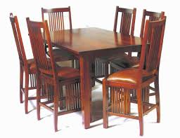 american made mission gathering solid wood table