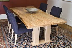 Custom Made Ambrosia Maple Dining Table Live Edge By Fredric Blum - Maple kitchen table