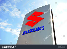 suzuki motorcycle emblem frankfurtgermanymay 13suzuki logo blue sky on stock photo