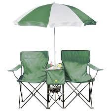 Outdoor Canopy Chair Fingerhut Outdoor Spirit Folding Chairs With Umbrella Green