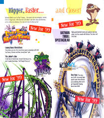Six Flags Movies Theme Park Brochures Six Flags America Theme Park Brochures
