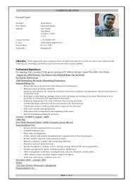 resume format for cook cv cv