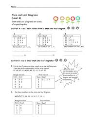stem and leaf diagrams worksheets by nottcl teaching resources