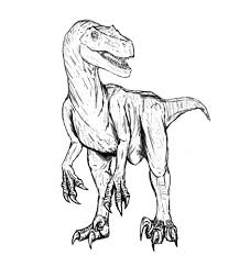 velociraptor coloring pages getcoloringpages com