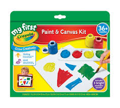 my first paint and canvas kit crayola