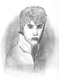justin bieber u0027s pencil sketch by ninjaswagg on deviantart