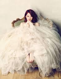 25 gorgeous photos of korean celebrities in wedding dresses k