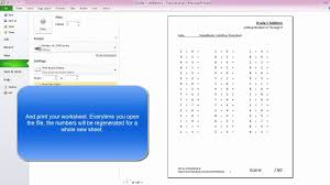 Math Worksheets Generator How To Make Math Worksheets With Excel Kindergarden Grade 1
