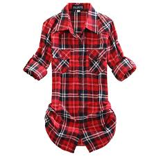 mid long style roll up sleeve plaid flannel shirt at amazon