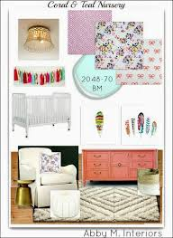abby manchesky interiors edesign coral and teal nursery before
