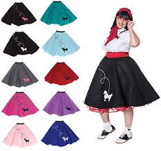 50s Halloween Costumes Poodle Skirts Hip Hop 50s Shop Size Womens Poodle Skirt Homemade Halloween