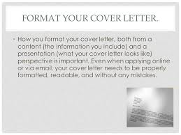 how to format your cover letter resume cover letter format
